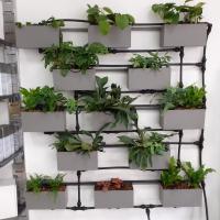 A LA SOURCE DU JARDIN , le prototype de notre mure végétalisé est déjà visitable