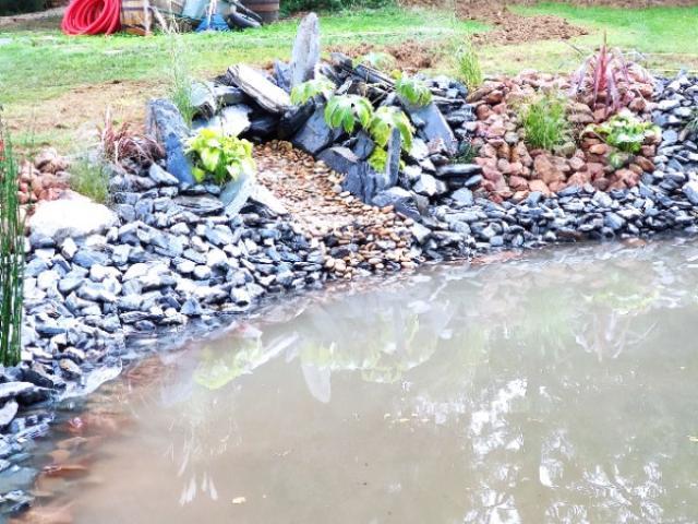 Rénovation d'un bassin d'agrément extérieur de 135m²  à  saint pierre de BAILLEUL .